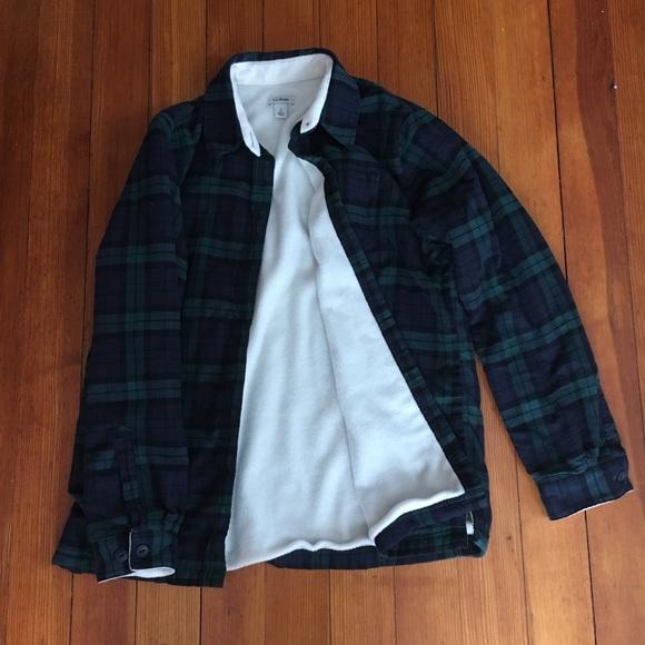 3de350d723727 LL Bean Tops - LL Bean women s Fleece-Lined Flannel Shirt